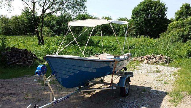 Łódka Wędkarska Alba 390 Przyczepa Baldachim Transport Cała Polska
