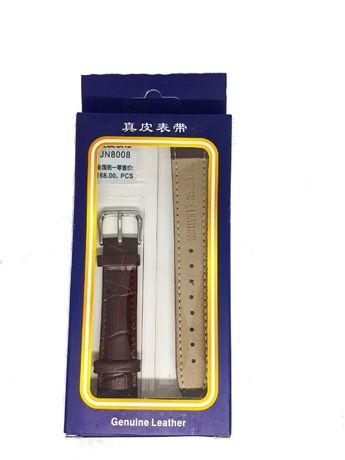 Pasek do zegarka Jinshoulian 18 mm. Brązowy.