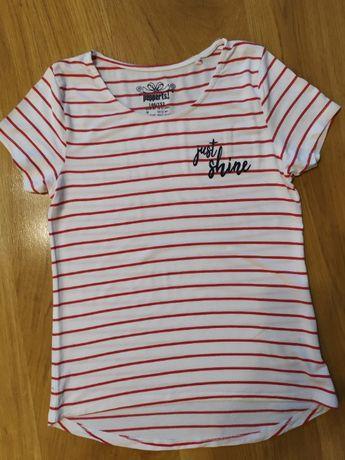 T-shirt bluzka z krótkim rękawkiem rozm. 146/152