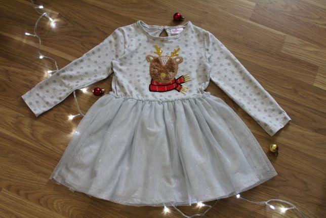 Новогодние платье, костюм, пижама, кофта 92-98 Новорічне плаття