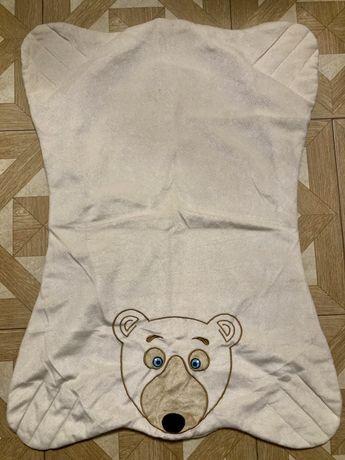 Kocyk polarowy miś stan idealny