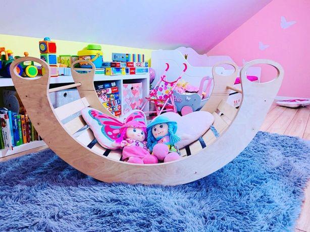 Drewniana kołyska, bujak, leżak dla dzieci