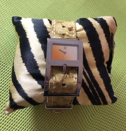 Roberto Cavalli oryginalny zegarek pasek skóra