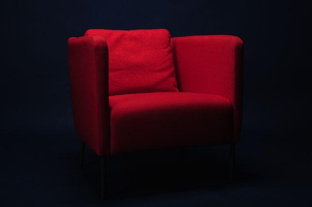 Fotel pomarańczowy, siedzenie, ekero