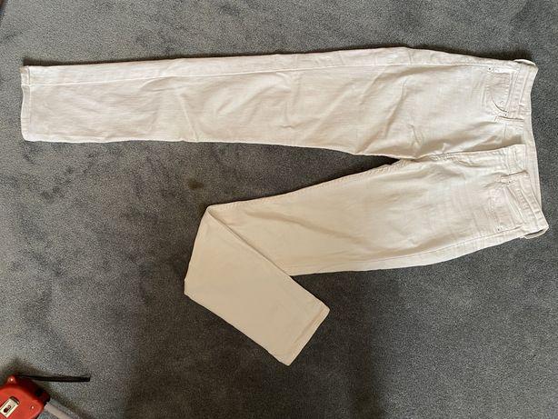 Białe spodnie H&M