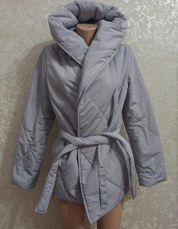 Куртка зефирка на запах одеяло новая сток S M