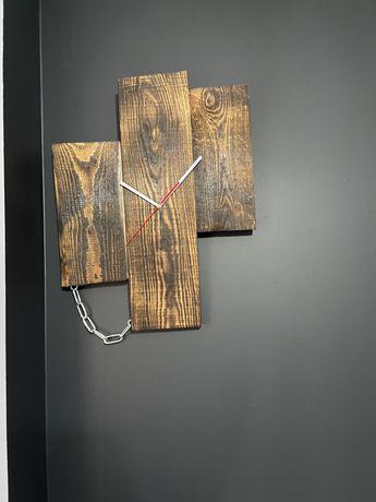 Zegarek  zegar loft indystrialny drewno opalany barek stojak na wino