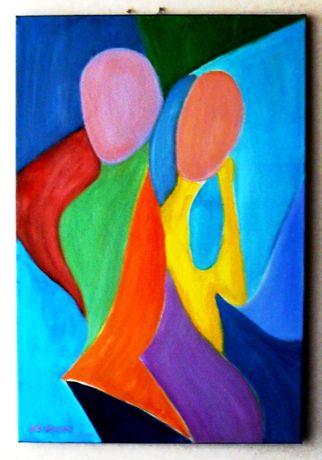 Obraz olejny 90x60 - Kuszenie