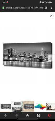 Obraz most Brooklyn duży 125x50 cm
