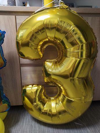 Шар из фольги, шарик цифра 3.