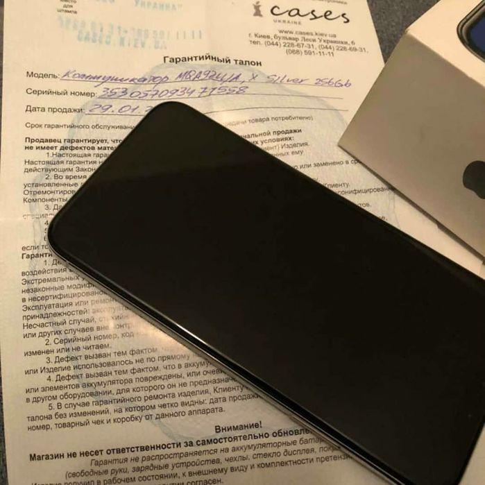 Iphone X (10) 256 gb Silver Neverlock Киев - изображение 1
