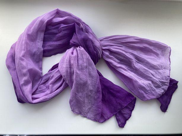 Шарфик ТРЕНДОВОГО лавандового цвета с градиентом