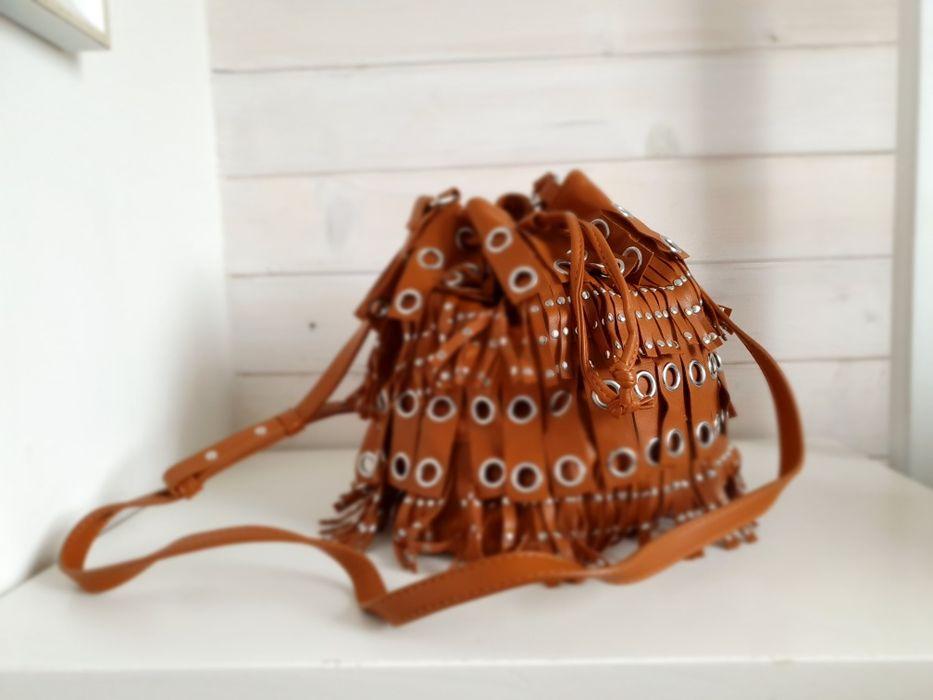 MANGO torebka karmelowa Łopuszna - image 1