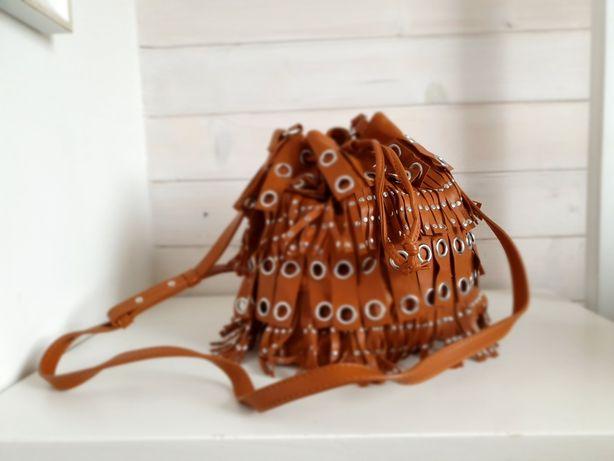 MANGO torebka karmelowa