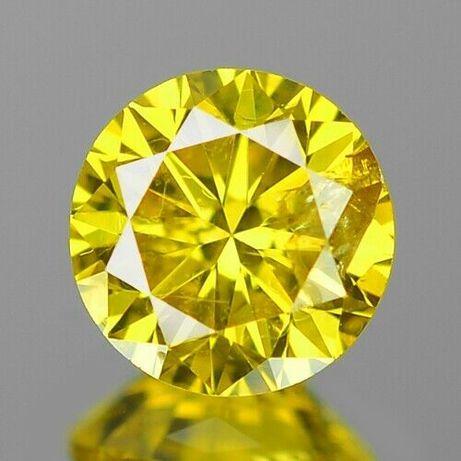 DIAMENT- BRYLANT - na złoty pierścionek - - Żółty