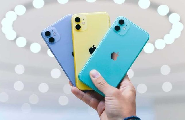 ТОП ∎NEW∎ iPhone 11 64 Black Yellow Purple Red 128 NEW  7 32 + 8 X XR