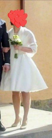 Suknia ślubna krotka roz 38 rozm m/l