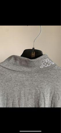 Szary golf kappa bluzka z dlugim rekawem