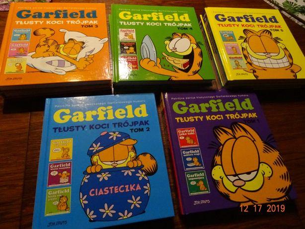 1-8 Garfield Tłusty koci trójpak Jim Davis lub wybrany