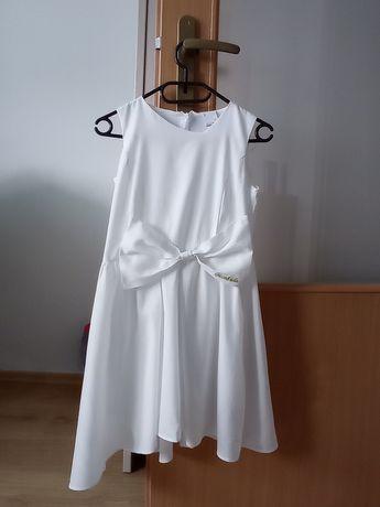 Biała komunijna sukienka