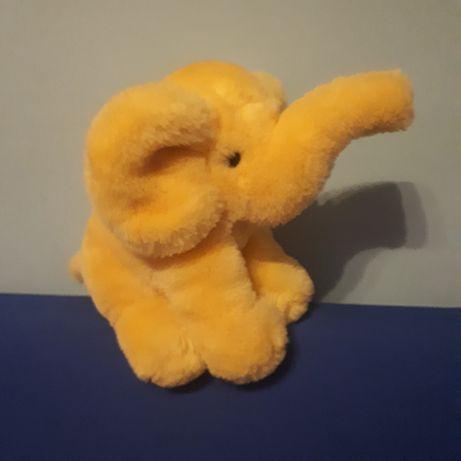 Maskotka żółty słoń wysokość 23 cm