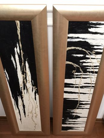 Obrazy olejne w drewnianych ramach