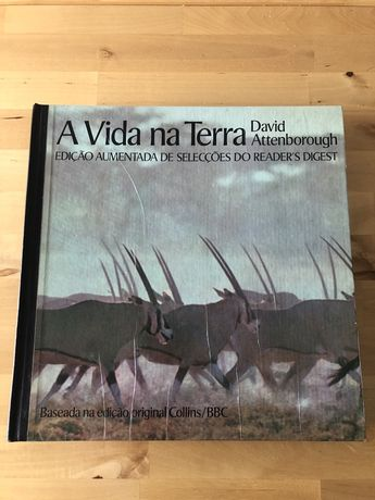 Livro A Vida na Terra de David Attenborough