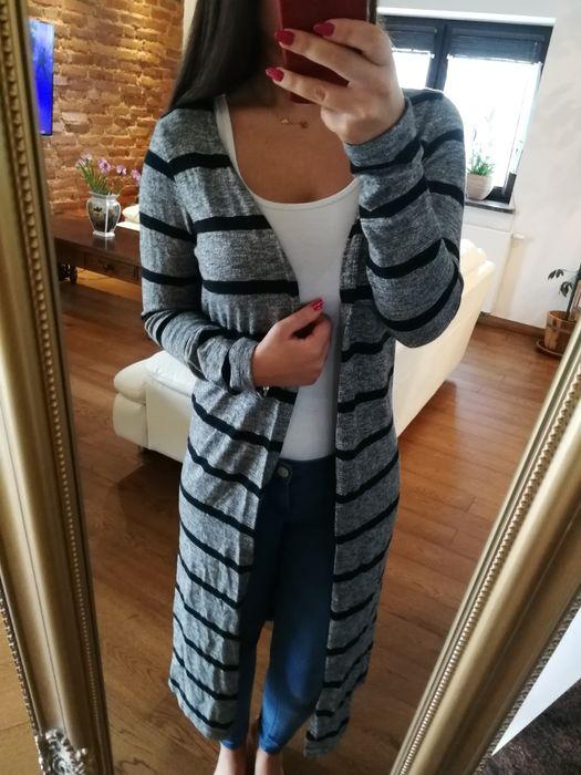 Długi szary kardigan r. S, długi sweterek Vero Moda Wrocław - image 1