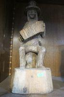 Figurka stary dziad drewno
