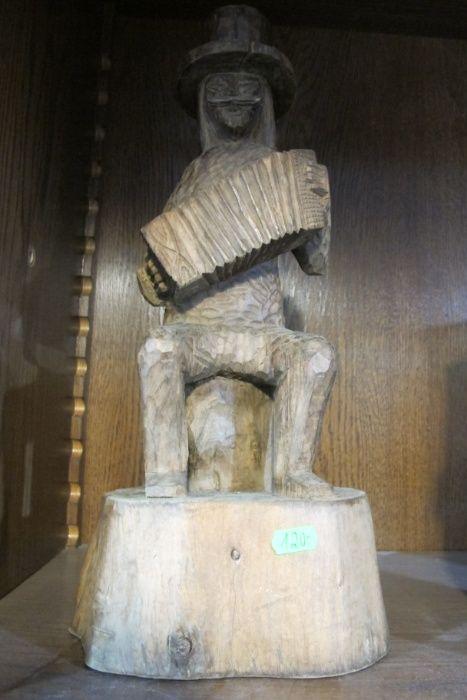 Figurka stary dziad drewno Warszawa - image 1