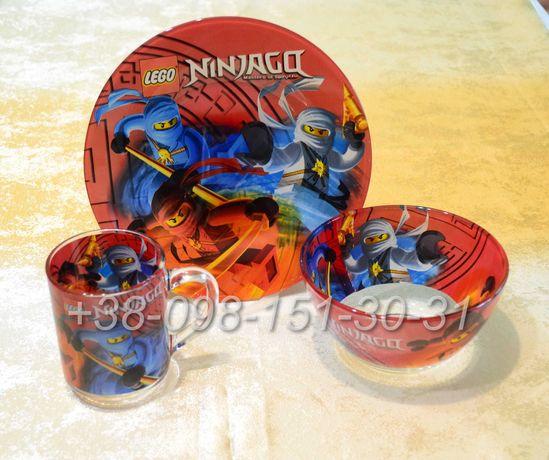 Детская посуда 3 в 1 - Ниндзяго, Майн Крафт, Человек-паук