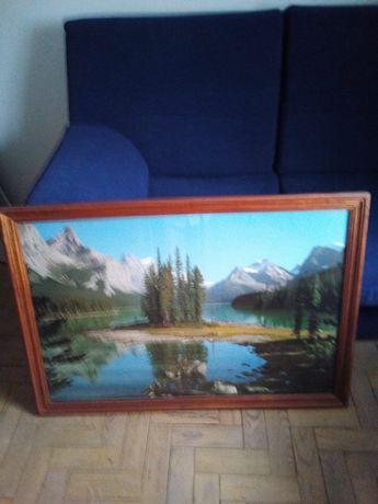 Vendo quadro paisagem moldura em madeira.