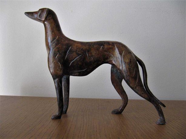 Estatueta vintage galgo ao estilo art deco