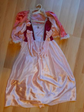 suknia Śpiącej Królewny Aurory z bolerkiem i rękawiczkami 120-135 cm