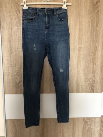 Jeansy wysoki stan reseved h&m 36