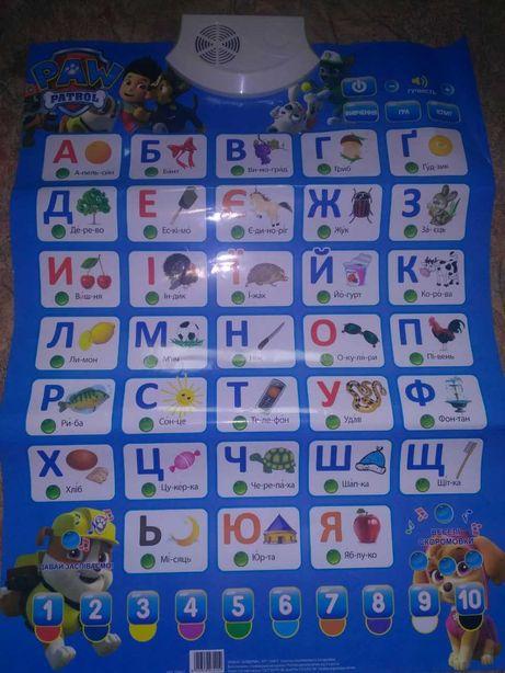 Продам сенсорный звуковой плакат для детей