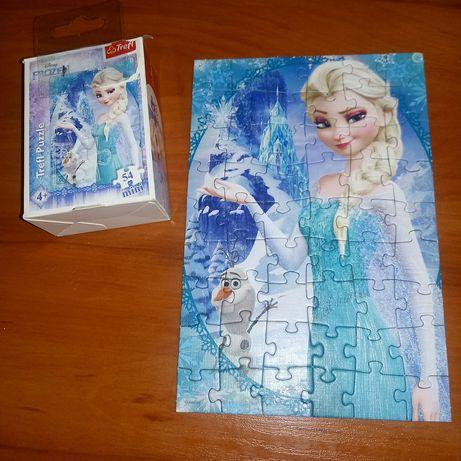 3x Puzzle 54 elementy Kraina Lodu