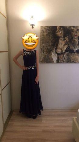 Платье шифоновое с пайетками выпускное/вечернее/нарядное/праздничное