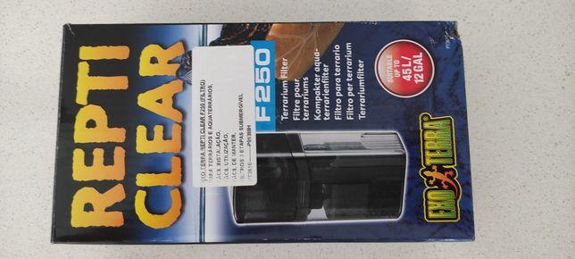 Repti Clear F250 filtro compacto para aquaterrário