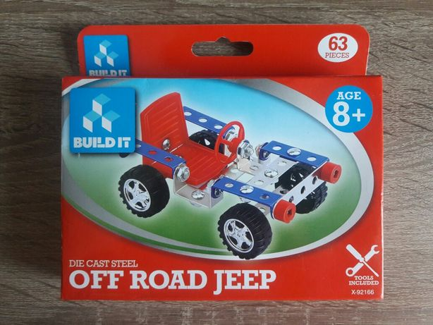 Металлический конструктор Build It Off Road Jeep (63 дет.)
