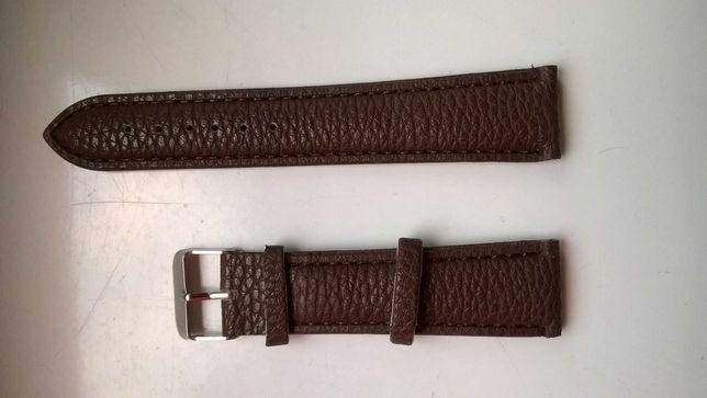 Pasek do zegarka 20 mm , nowy , brązowy
