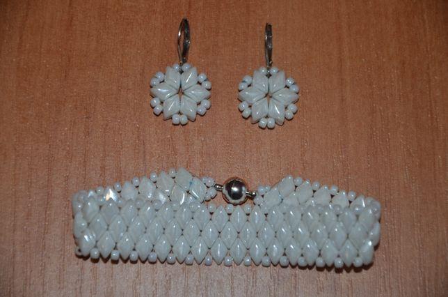 kolczyki + bransoletka (handmade)
