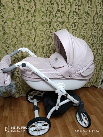 Детская коляска 2в1 Mioobaby Zoom розовая