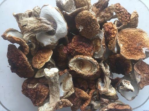 Белые грибы сухие из печи, ароматные