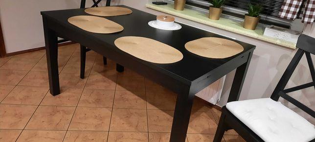 Stół rozkladany czarny