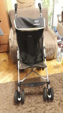 Bardzo lekki, wózek spacerowy Chicco Caddy składany - laska, parasolka