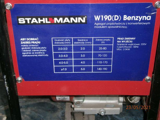 Agregat Spawalniczy - Prądotwórczy STAHLMANN - benzynowy. Inwertor.