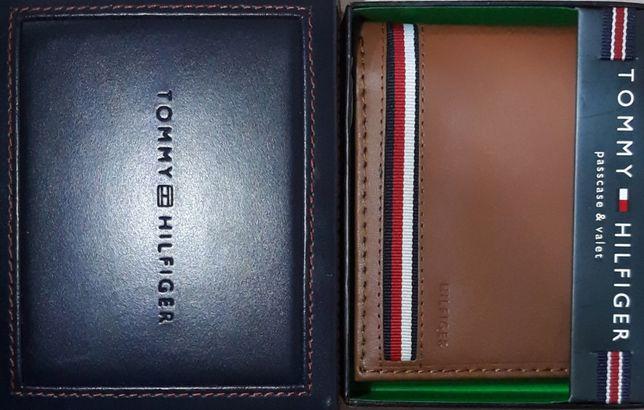 TOMMY HILFIGER Meski Portfel RFID Oryginalny Brazowy + Pudelko