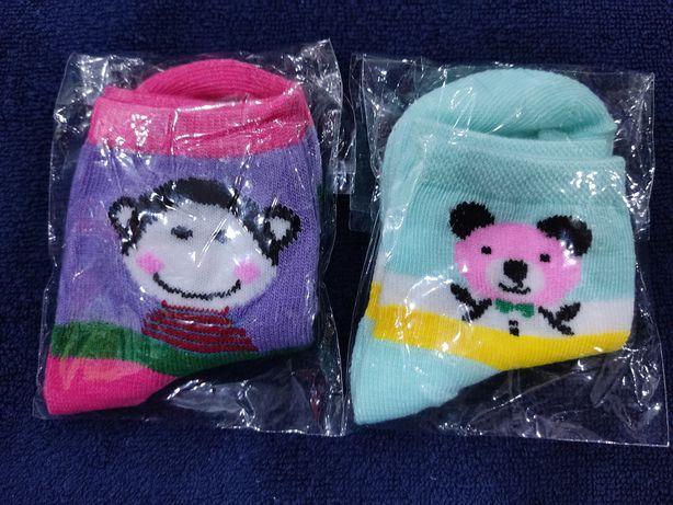 Nowe zestaw 2 pary skarpetek dla dziewczynki w wieku 1-3 lat