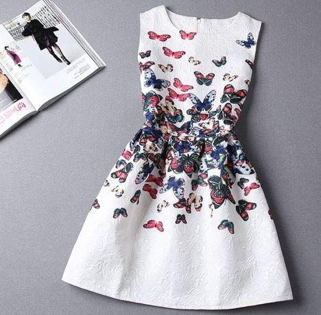 Nowa sukienka w motyle